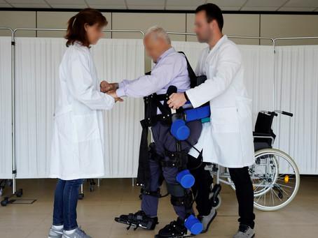 Sesiones de rehabilitación: trastorno degenerativo y el exoesqueleto HANK en Onbideratu