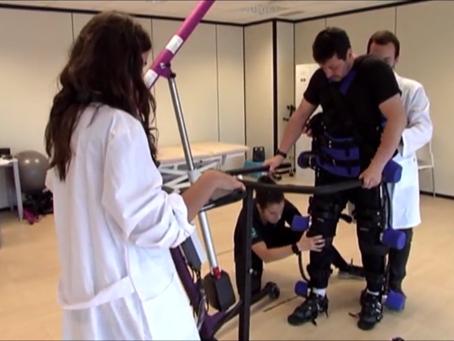 Sesiones de rehabilitación: lesión medular y el exoesqueleto HANK en Onbideratu