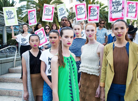 2016 Fashion Revolution 'Fash Mob' in San Francisco