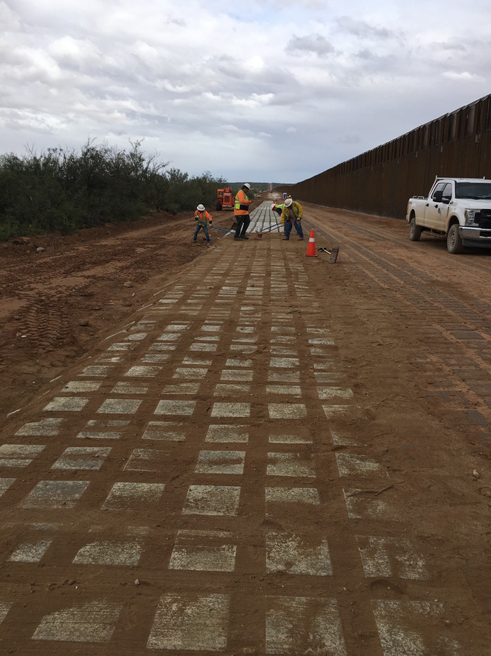 Border Fence low water crossing