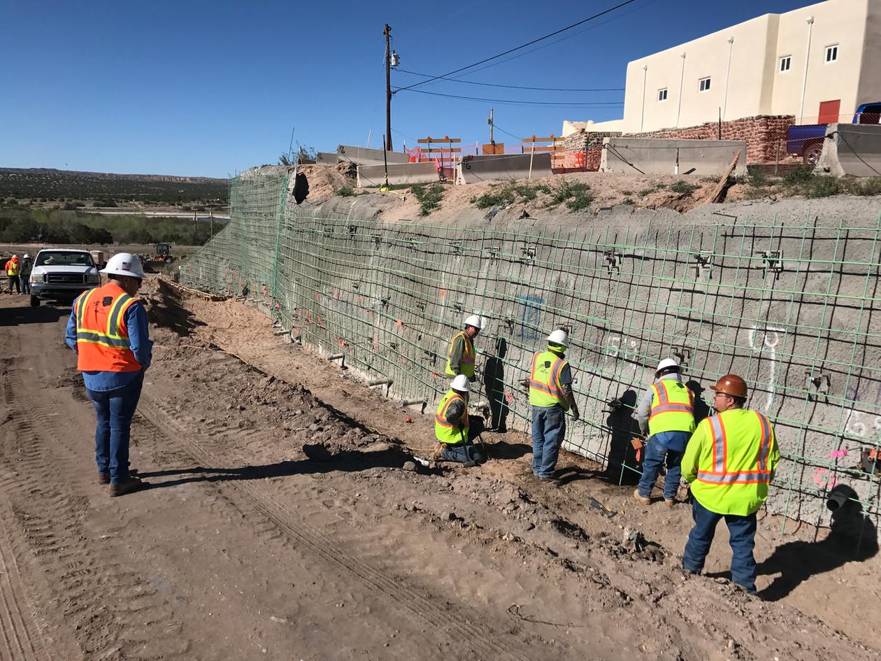 Zia Pueblo single face retaining wall