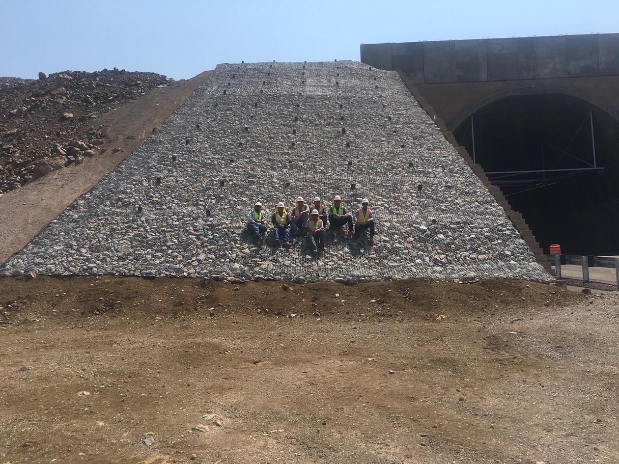Riprap at Chino Mine