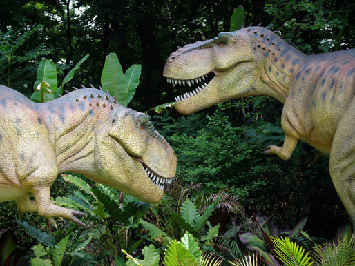 Dinosaurs At the Zoo