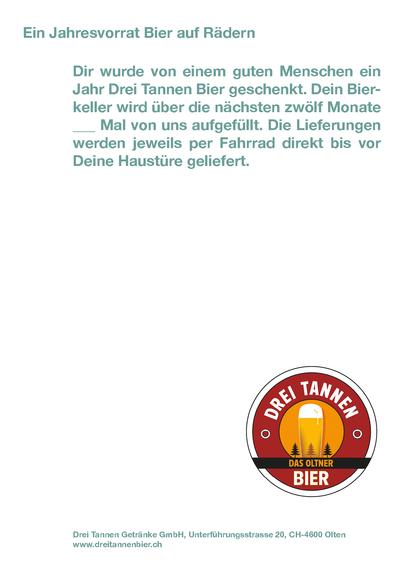 Drei Tannen Bier – Bier auf Rädern