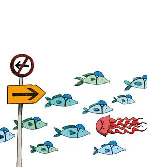 Illustrationen für Banner zur Verkehrsberuhigung am Slow Up, 2019