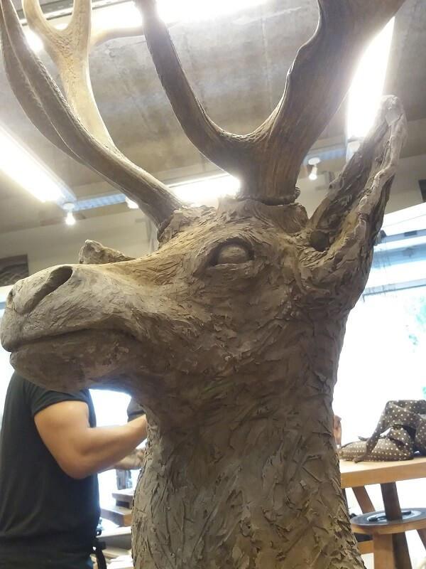cerf-sculpture-paris-atelier