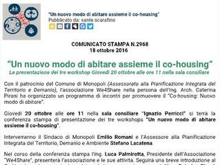 Conferenza stampa sul Co-Housing