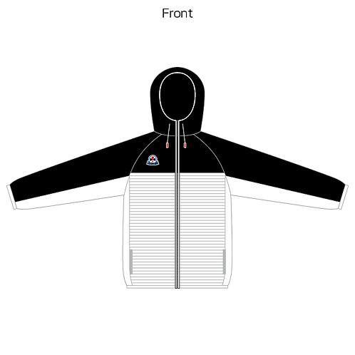 Hooded border zip wear 01