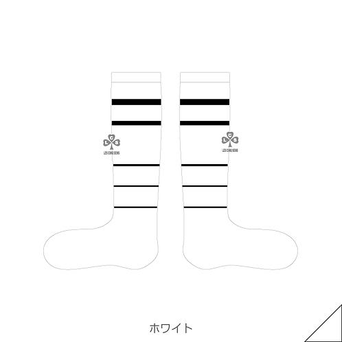 Braided border socks