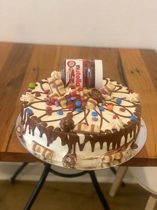 Nutella cake $5.50/Portion