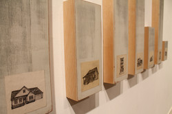 Dwell | ink on paper on wood panels