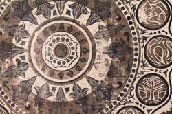 Mandala (detail) | woodcut on paper