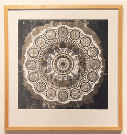 Mandala | woodcut on paper