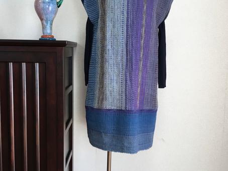 タイ手織生地のチュニックワンピース