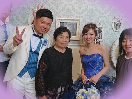 おばあ様のスーツ、お孫様の結婚式に。