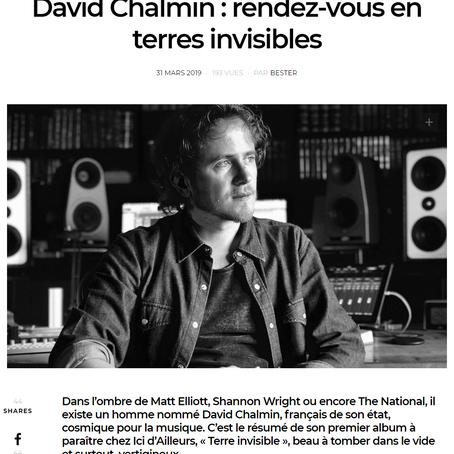 David Chalmin dans GONZAÏ !