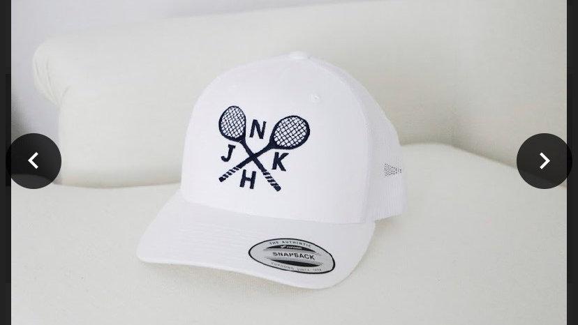 NJKH white baseball cap