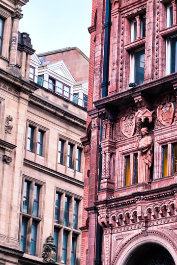 Two 19th century buildings on Market Street - Nottingham