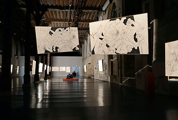 Exposition « Traits de Passion »  Réfectoire des Cordeliers - Université Paris-Descartes, avril-mai 2013. Photo cmpezon.fr