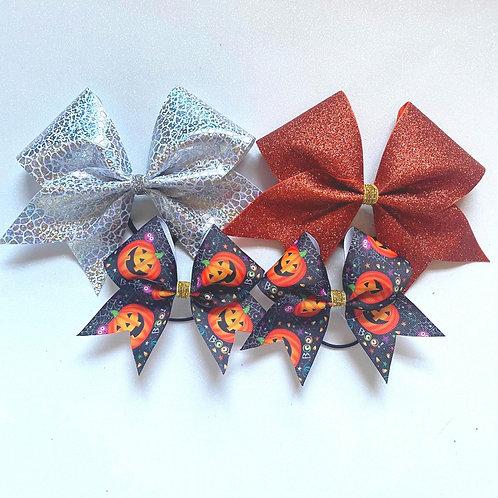 Pumpkin Boo Pigtail Trio