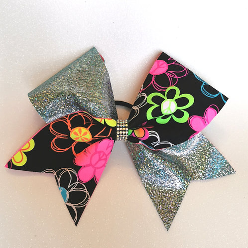 Personalised Neon Flower Bow