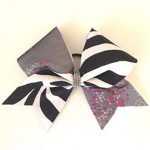 Personalised Lace Zebra Bow