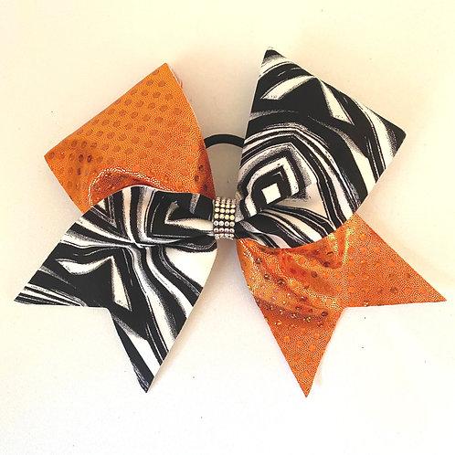 Personalised Orange Geometric Bow