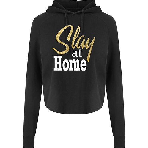 Slay at Home Crossover Cropped Hoody