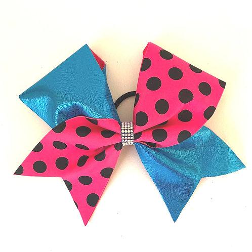 Personalised Pink Polka Dot Bow