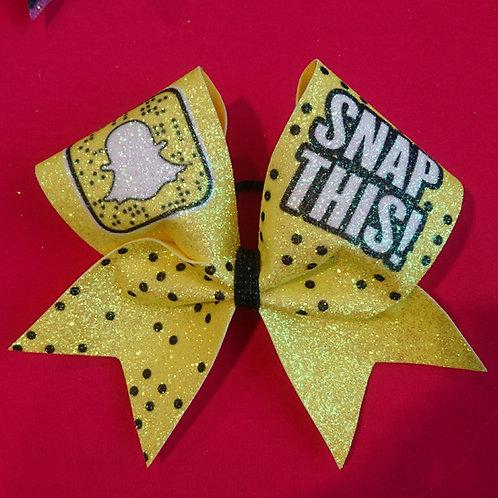 Snap Chat Snap This Cheer Bow