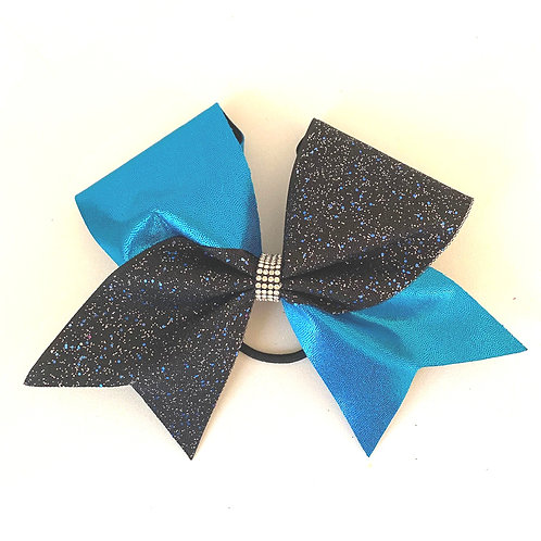 Personalised Blue Sparkle Lace Bow