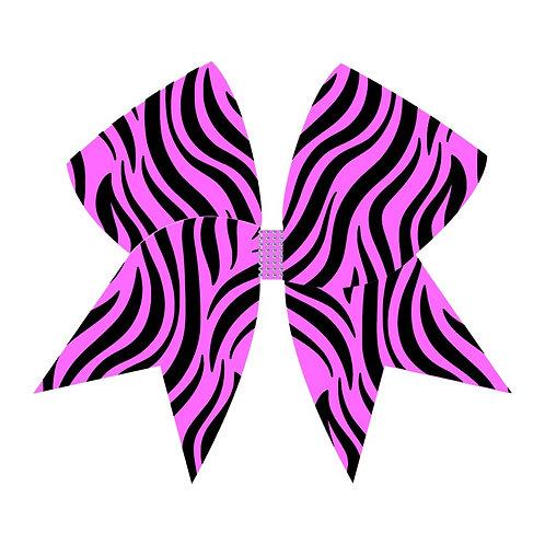 Extreme Zebra Glow Bow