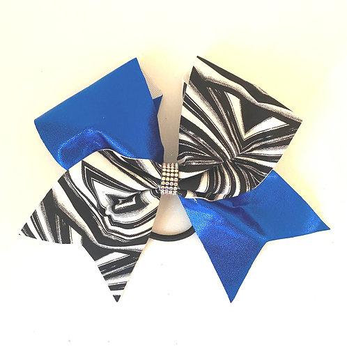 Personalised Blue Geometric Bow