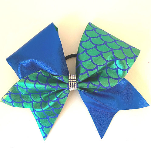 Personalised Green Blue Mermaid Bow