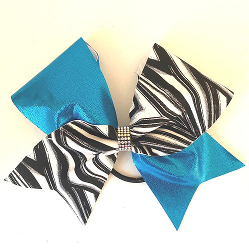 Personalised Turquoise Geometric Bow
