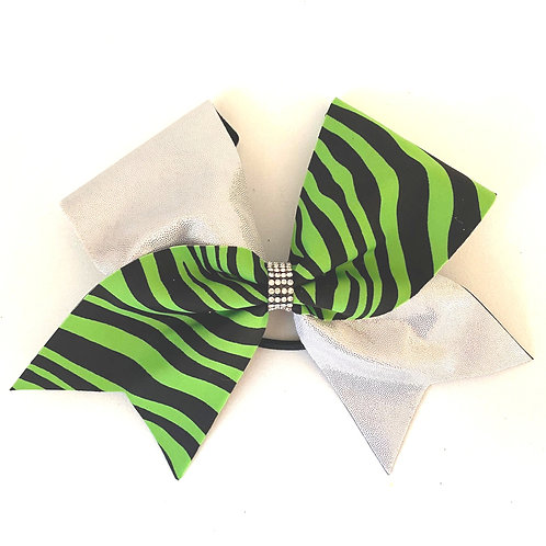 Personalised Green Zebra Bow