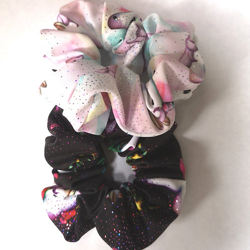 Unicorn Sparkle Scrunchies