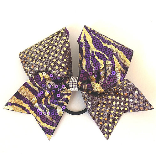 Purple and Gold Sequin Tiger