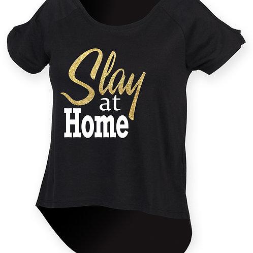 Slay at Home Cold Shoulder T-Shirt