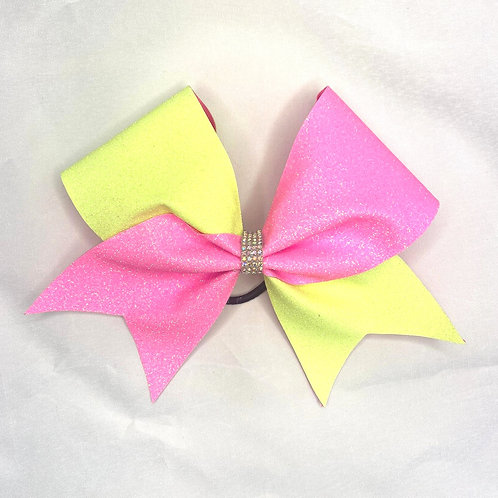 Coaches Room Tick Tock Glitter Cheer bow