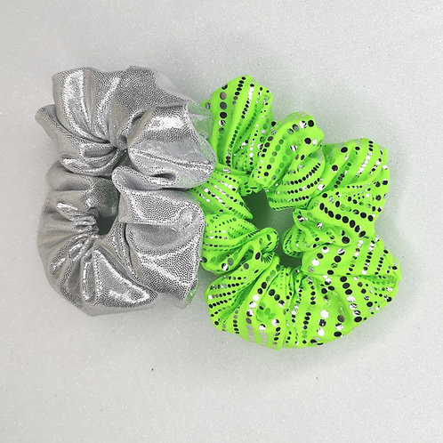 WFC Pro Shop Silver Dot Scrunchie Set