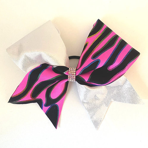 Personalised Neon Pink Rainbow Bow