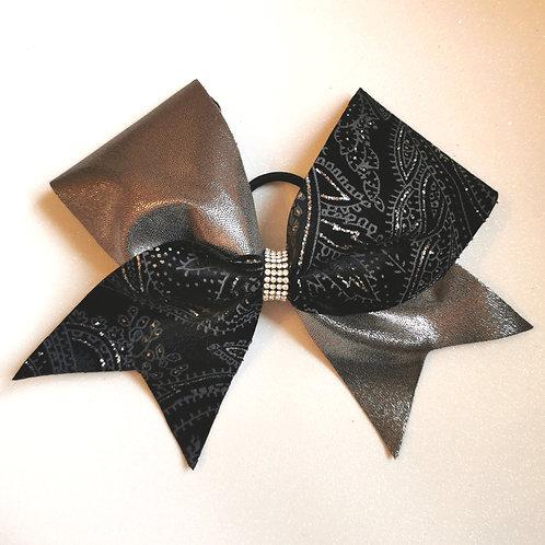 Black Velvet Paisley Bow