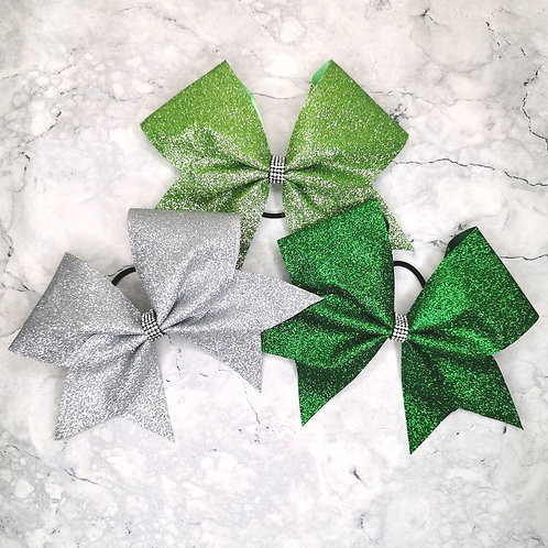 WFC Plain Glitter Cheer bow