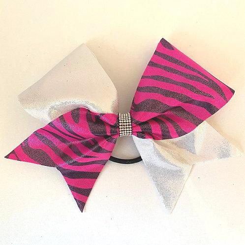 Personalised Pink Zebra Bow