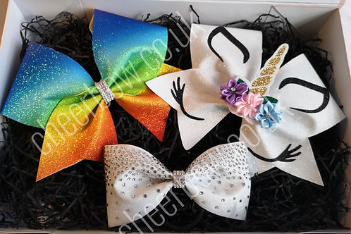 Unicorn Cheer Bow Bundle