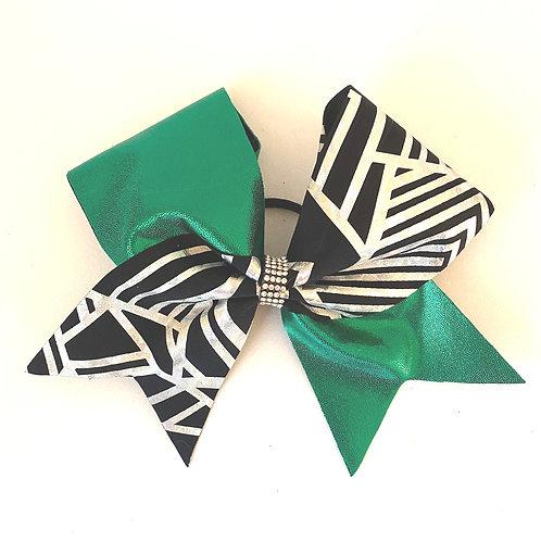 Personalised Green Geometric Bow