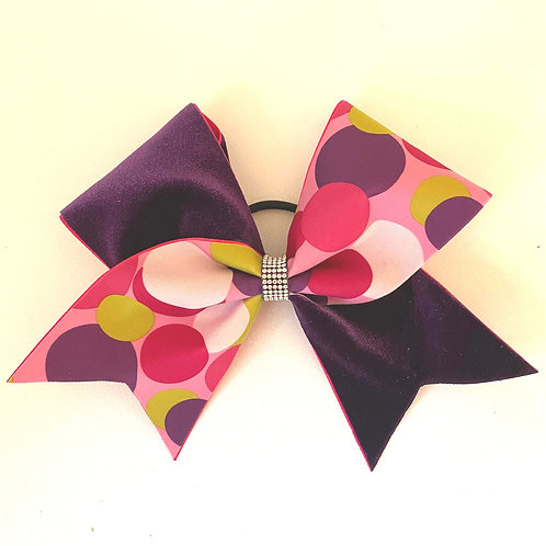 Personalised Purple Bubble Bow
