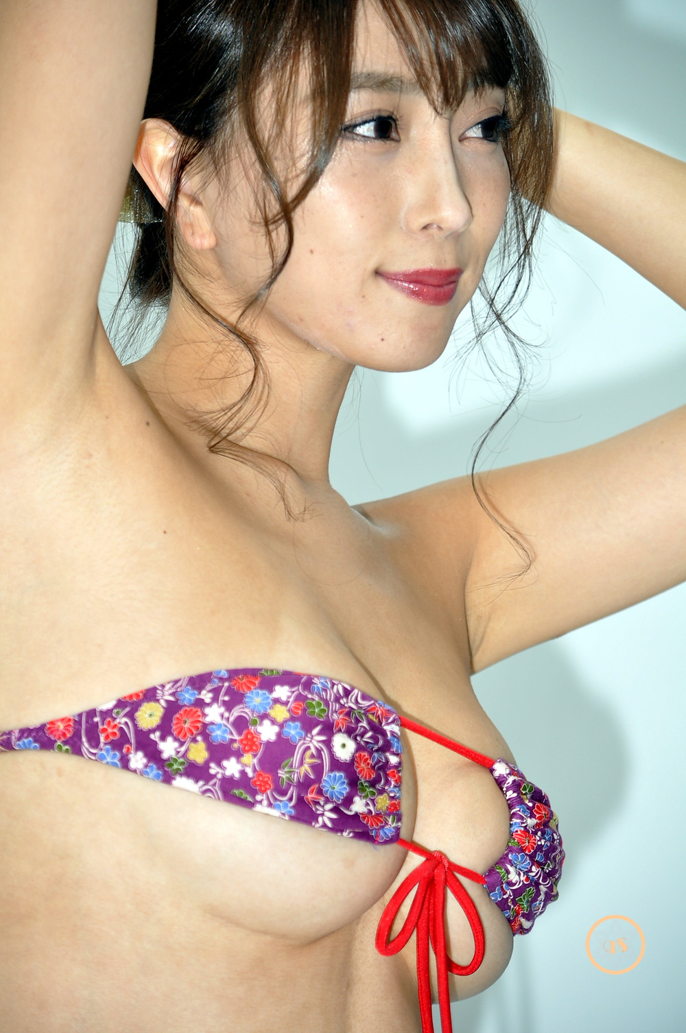 巨乳Gカップグラビアアイドル森咲智美『咲露~エロ~/イーネット・フロンティア』DVD発売記念イベ (1)