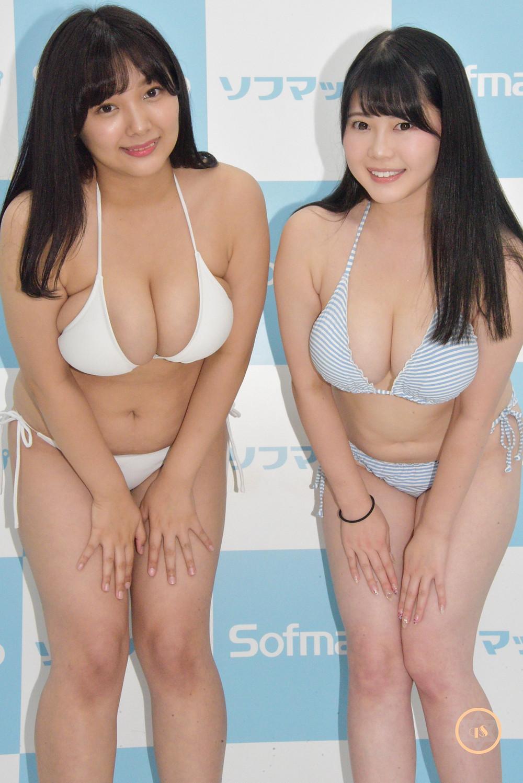 爆乳Jカップグラドル伊川愛梨、工藤唯 (1)